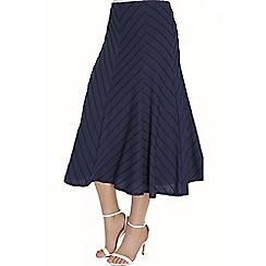 Roman Originals - Navy textured panelled skirt
