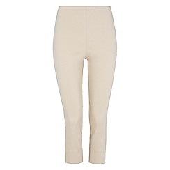Roman Originals - Beige bengaline crop trousers