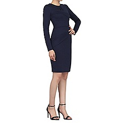 Jolie Moi - Navy asymmetrical fold detail dress