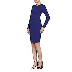 Jolie Moi - Royal asymmetrical fold detail dress