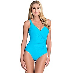 Seaspray - Light blue draped control swimsuit