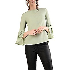 Alice & You - Pale green flute sleeves top