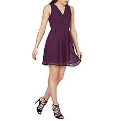 Tenki - Purple tie back dress