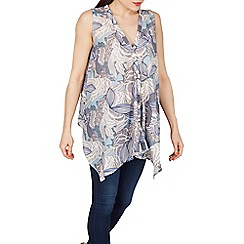 Tenki - Blue abstract print top