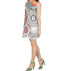 Izabel London - Multicoloured kaleidoscope print shift dress