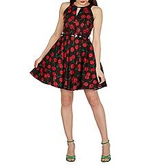 Izabel London - Multicoloured cherry print skater dress