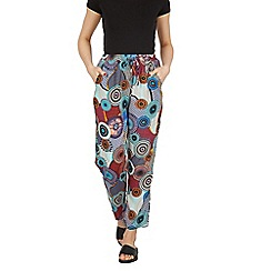 Izabel London - Multicoloured disc print slim leg pantsa