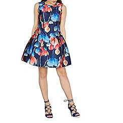 Izabel London - Multicoloured floral print skater dress