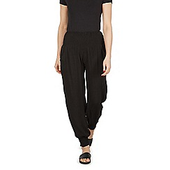 Izabel London - Black gathered pocket detail wide pants