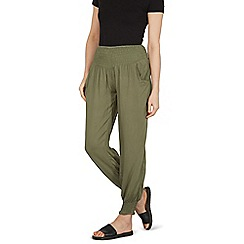 Izabel London - Khaki gathered pocket detail wide pants