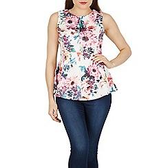 Izabel London - Multicoloured floral print peplum top