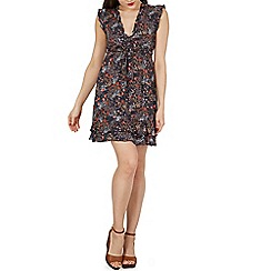 Izabel London - Multicoloured short sleeves v neck floral dress