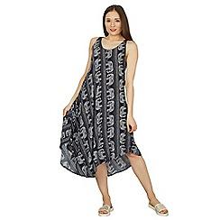 Izabel London - Navy elephant print sleeveless dress