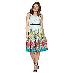 Lindy Bop - Green bernice floral swing dress
