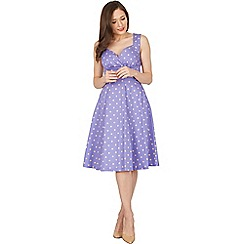 Lindy Bop - Purple layla polka swing dress