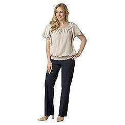 Lavitta - Cream georgette sunray blouse