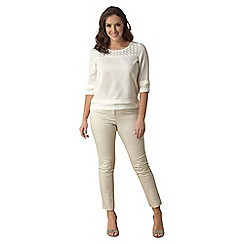 Lavitta - Cream lace yoke tunic
