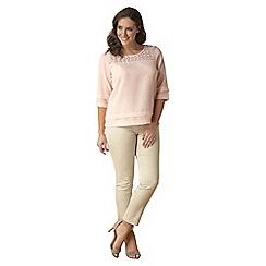 Lavitta - Pink lace yoke tunic