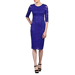 Jolie Moi - Royal 3/4 sleeves lace bodycon dress