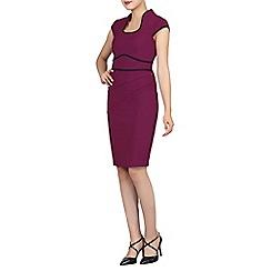 Jolie Moi - Dark pink contrast trimmed fold detail dress
