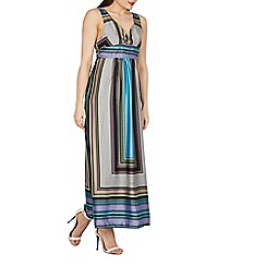 Izabel London - Multicoloured scarf print maxi dress