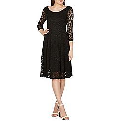 Izabel London - Black paisley lace skater dress