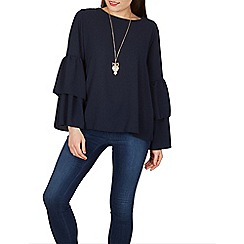 Stella Morgan - Navy doble bell sleeves blouse top