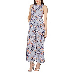 Tenki - Grey floral sleeveless wide leg jumpsuit