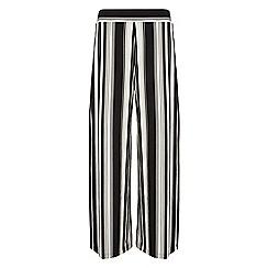 Roman Originals - Black stripe wide leg trousers