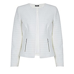 Roman Originals - Off white ponte jacquard jacket
