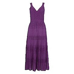 Roman Originals - Purple shirred panelled dress