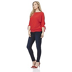 Roman Originals - Red cold shoulder top