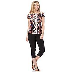 Roman Originals - Multicoloured floral frill top