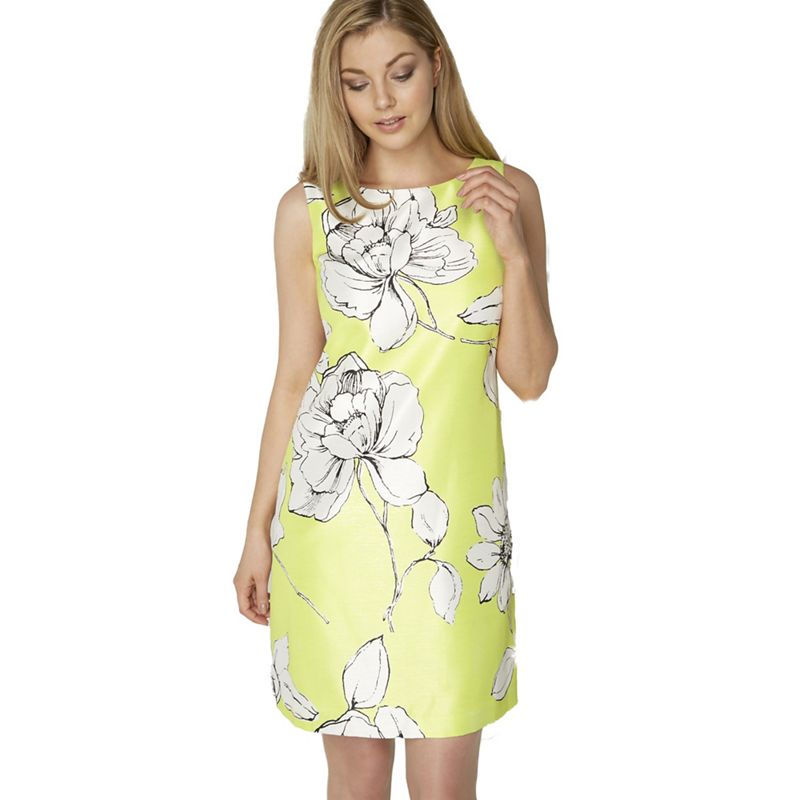 Roman Originals Lime floral print dress