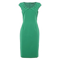 Roman Originals - Bright green notch neck dress