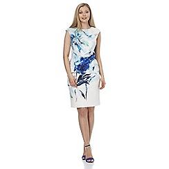 Roman Originals - Royal print side pleat dress