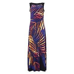 Roman Originals - Purple contrast print dress