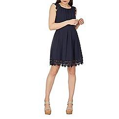 Izabel London - Navy lace trim prom dress
