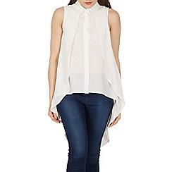 Izabel London - White sleeveless double layer blouse top