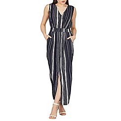 Izabel London - Navy pin stripe maxi dress