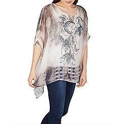 Izabel London - Multicoloured round neck floral printed blouse top