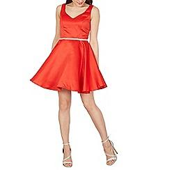 Izabel London - Red embellished waist line occasion dress
