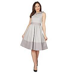 Lindy Bop - Grey beattie grey swing dress
