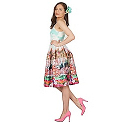 Lindy Bop - Turquoise marlene turquoise riviera swing dress