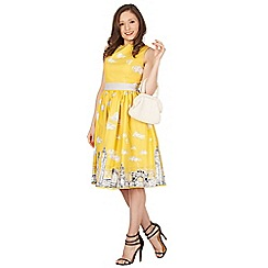 Lindy Bop - Yellow audrey skyline swing dress