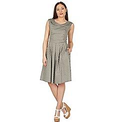 Apricot - Khaki oval print dress