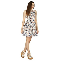 Apricot - Cream floral cotton tea dress