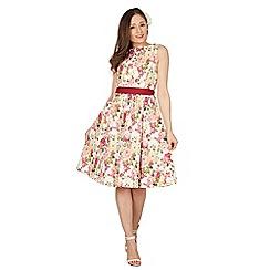 Lindy Bop - Pink Audrey rose swing dress