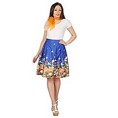 Lindy Bop - Orange Marie stripe swing skirt
