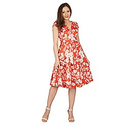 Lindy Bop - Red dawn dogwood tea dress
